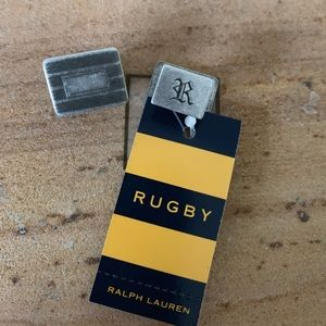 Rugby by RL vintage brushed silver cuff links
